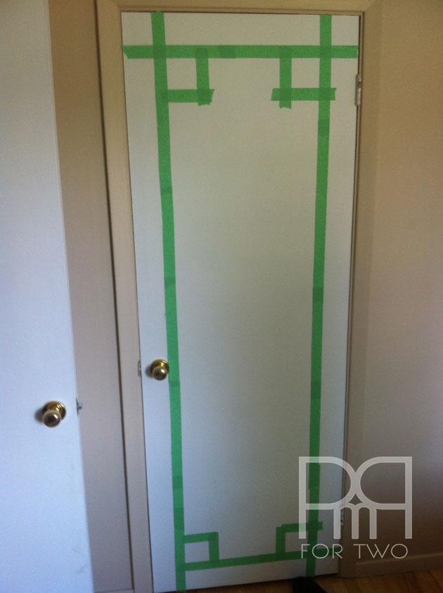 washi tape  on door