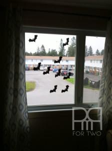 halloween silhouette window decor