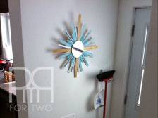 DIY sunburt mirror multi colored