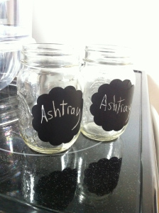 chalkboard ash trays