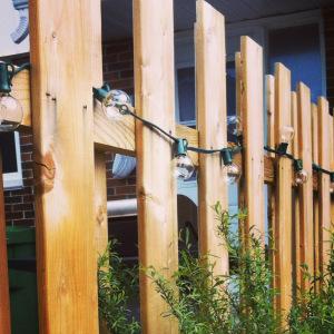 lights on fence