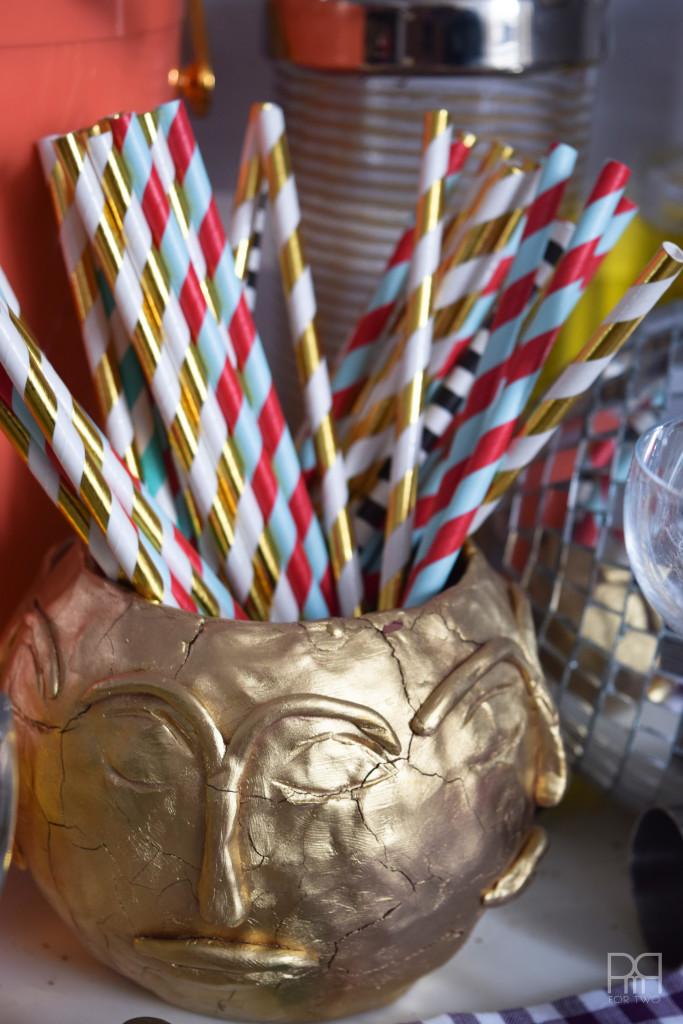 bar cart straws