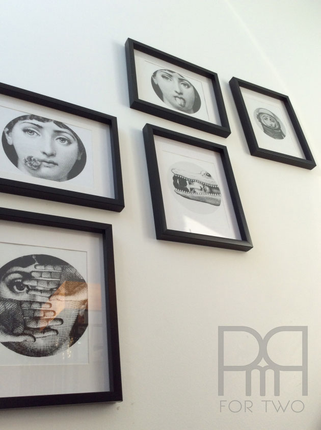 fornasetti gallery wall