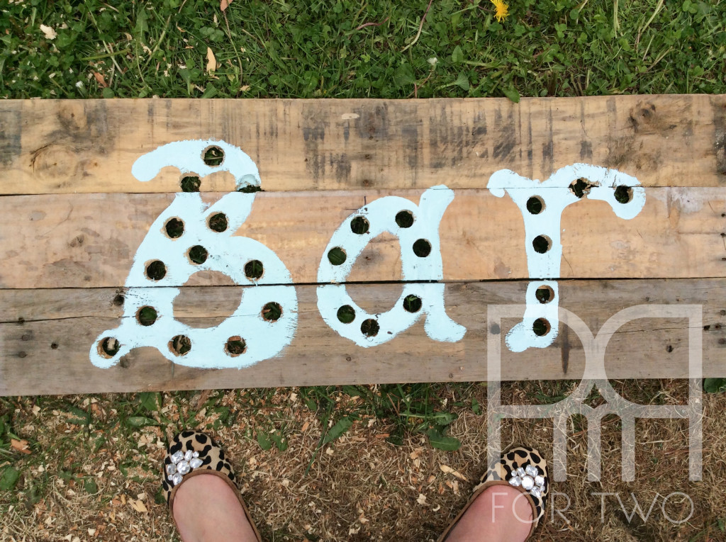 DIY marquee lights sign bar with holes