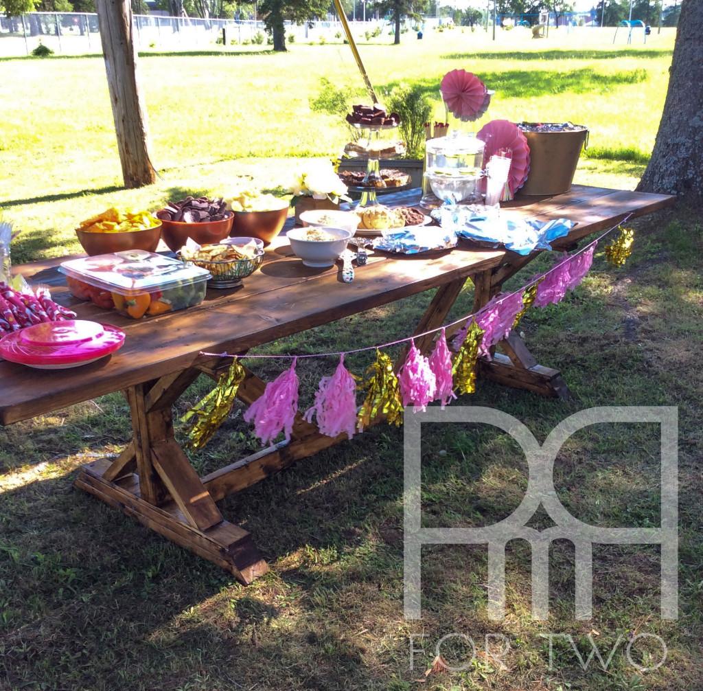 harvest table bbq summer