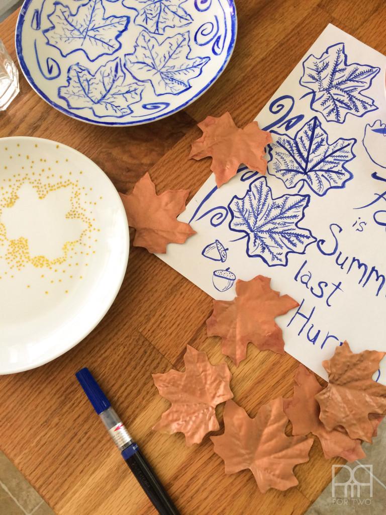 fall plates diy