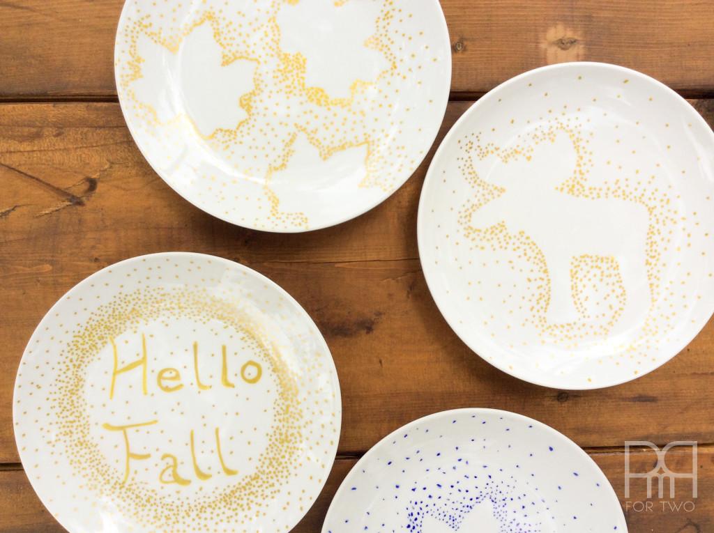 fall plates diy hello fall