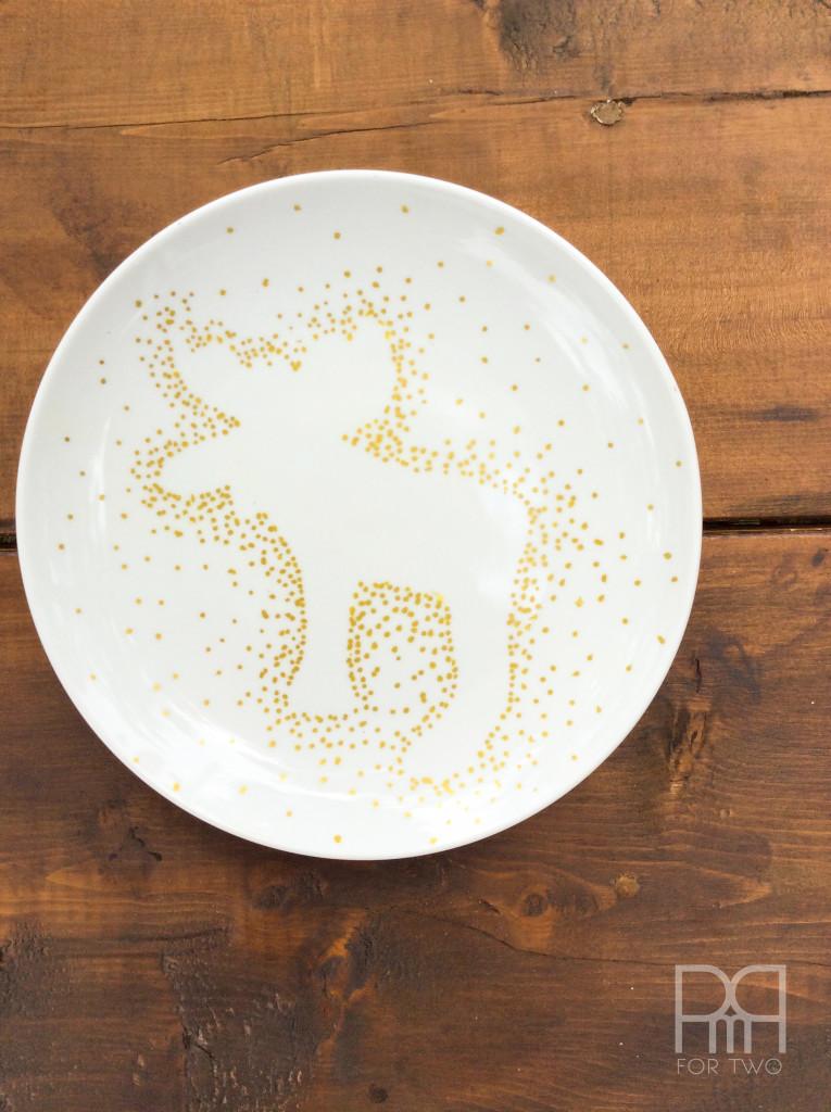 fall plates diy deer