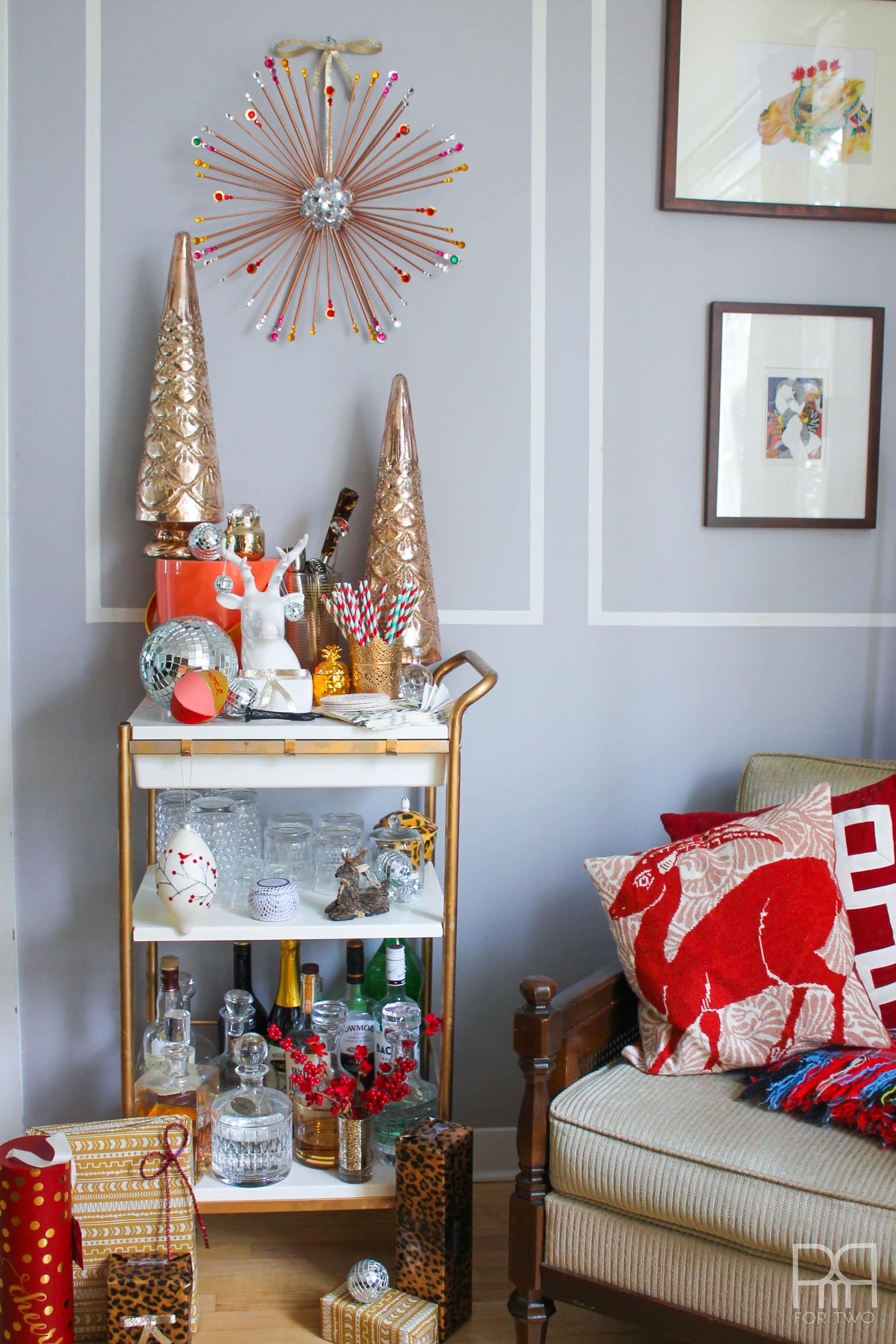DIY Starburst Wreath living room