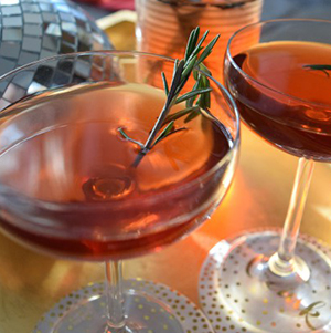 Holiday Cocktail - Vodka Cranberry & Rosemary