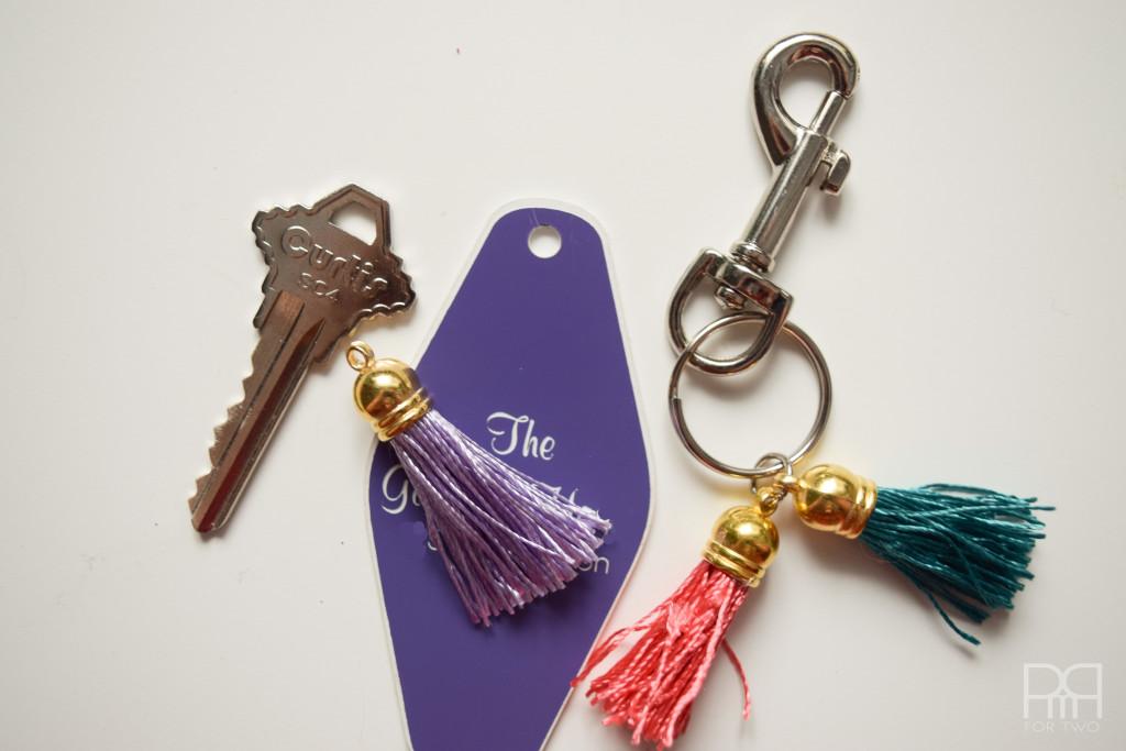 tassel keychain on ring