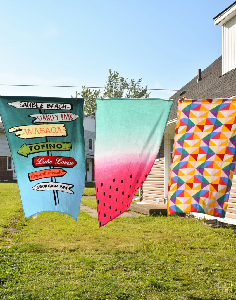 Patio Tour hanging towels