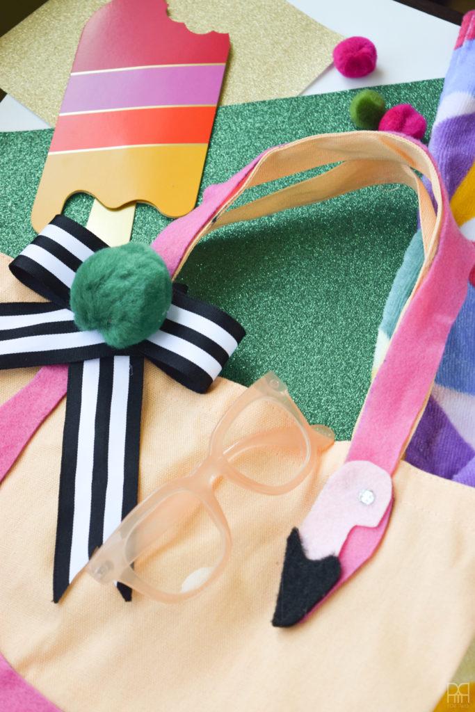 Felt Flamingo Bag close up