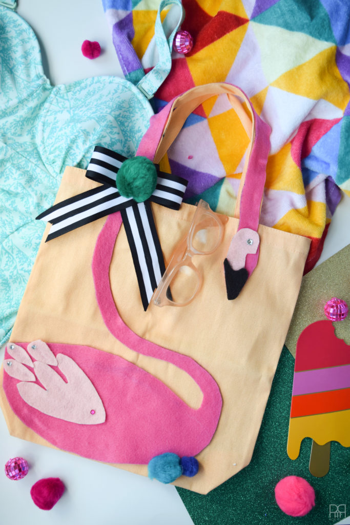 Felt Flamingo Bag