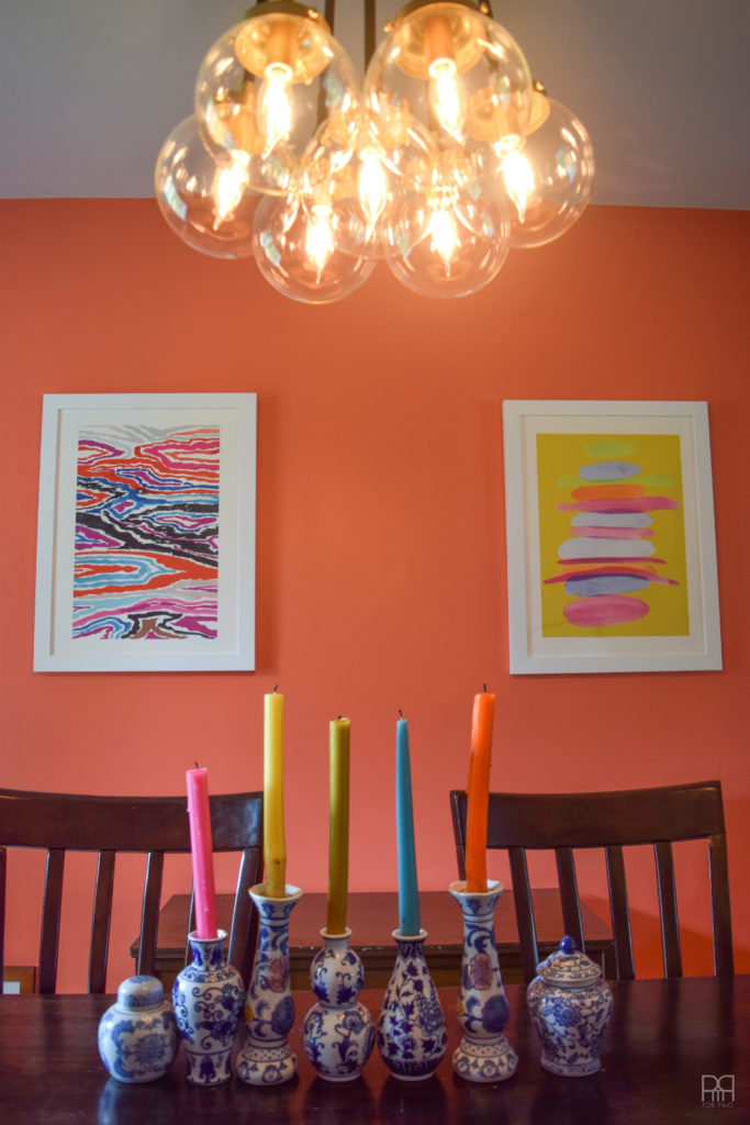 New paint colours in dining room