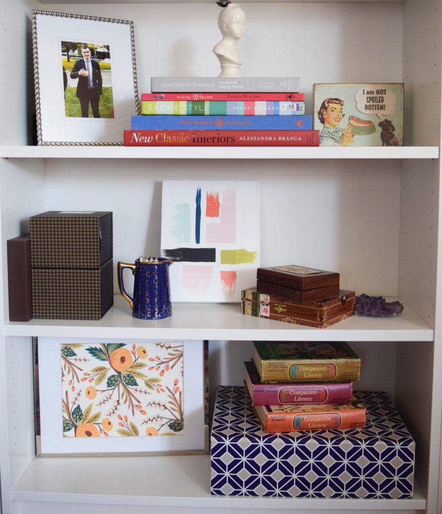 new paint colours bookshelf