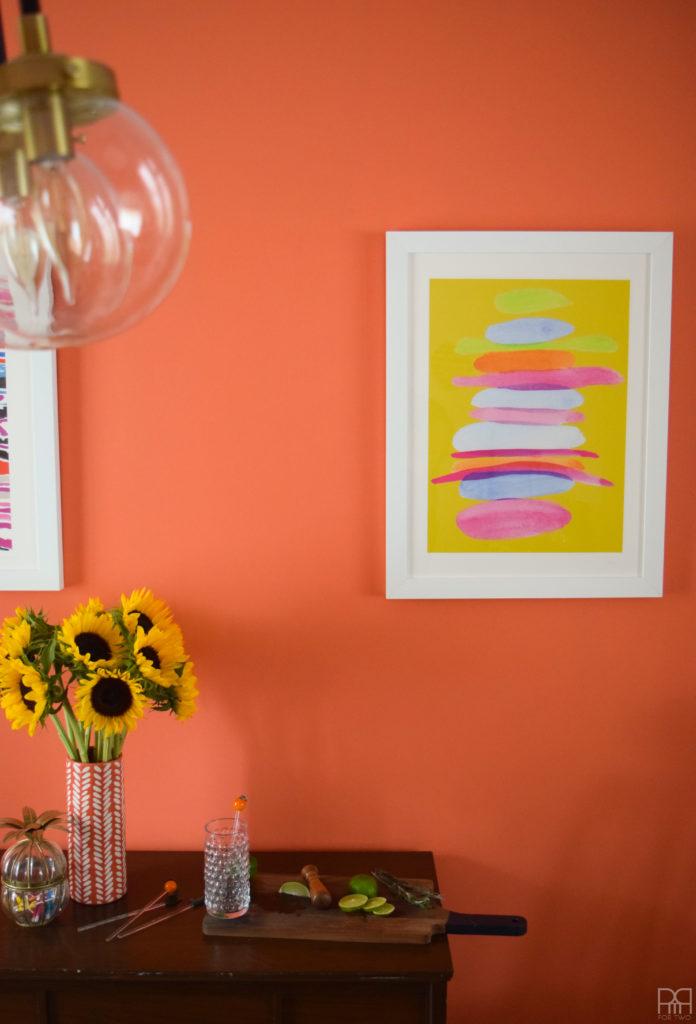 Dining room artwork