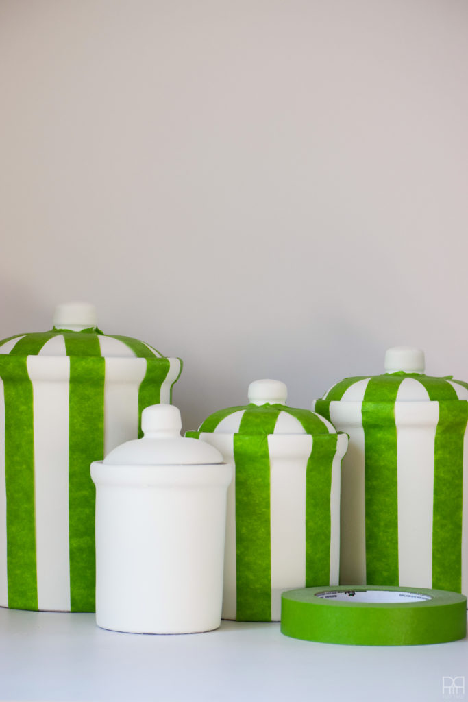 tapped striped jars