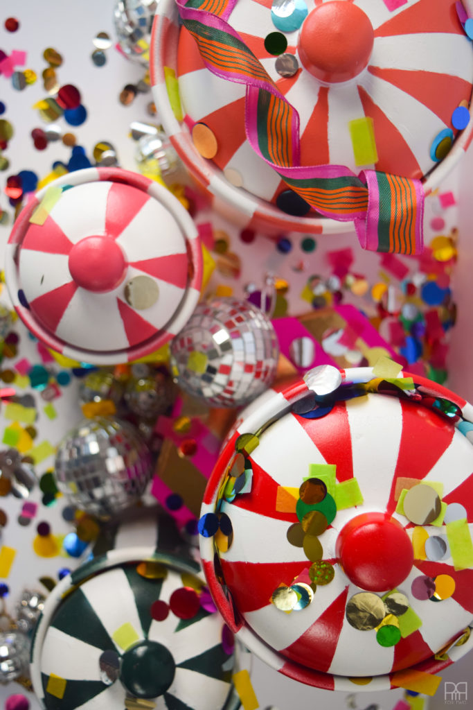 Jonathan Adler vice hars covered in confetti