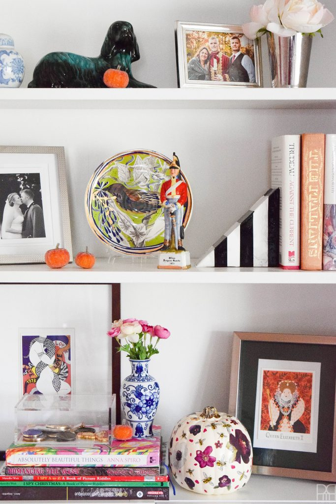 Canadian Blogger Fall Home Tour book case