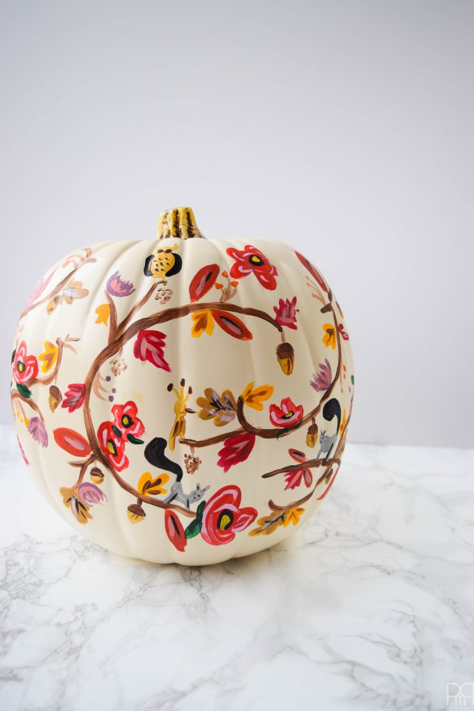 rifle paper co style painted pumkin