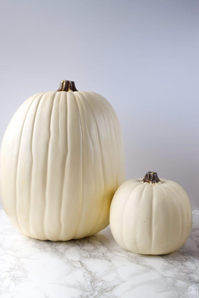 Decoupage Pumpkins white