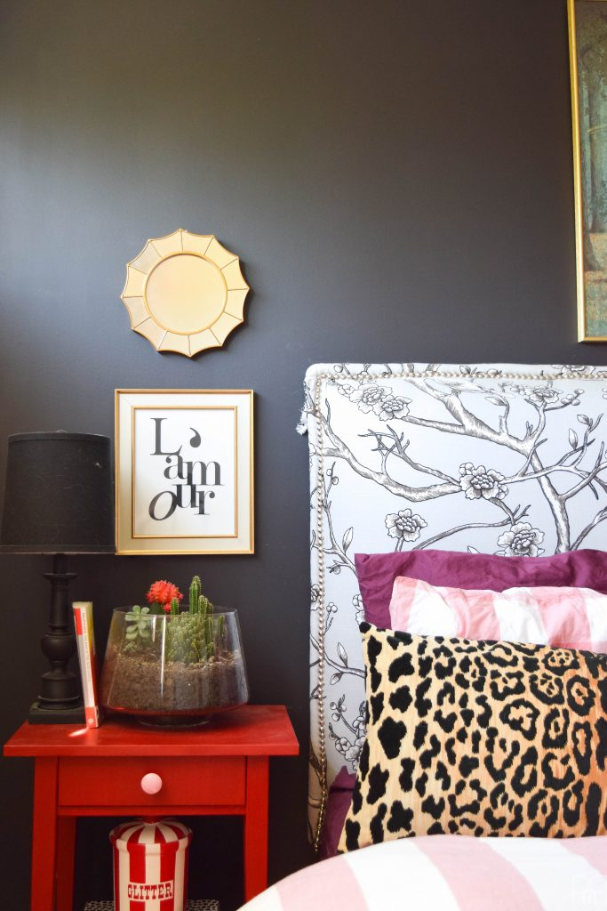 A Black & Bold master bedroom