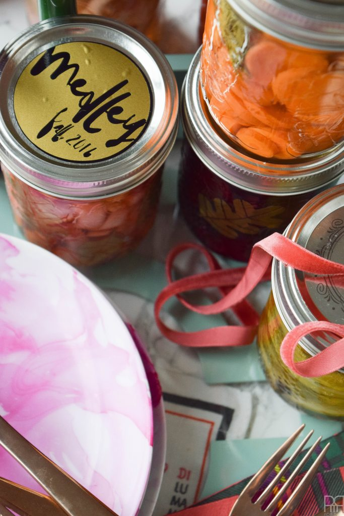 making canning jar labels with your Cricut is easy with the right materials. You just need vinyl and some cut files - come see how I did it!