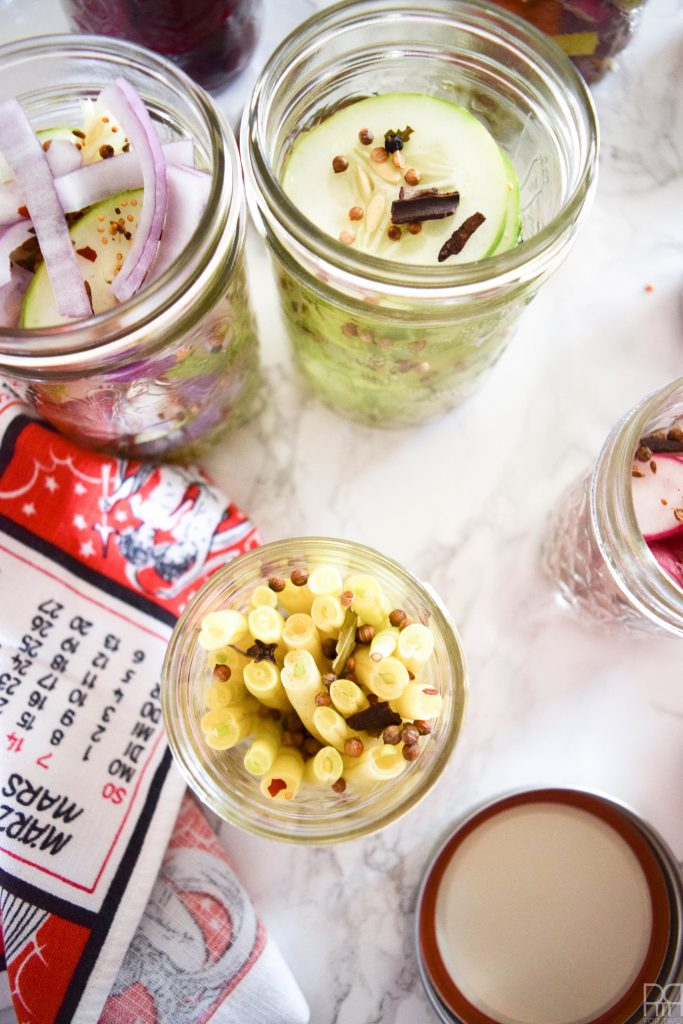 How to pickle & can vegetables - an invaluable skill for fall activities, and much easier than you think! Come grab my pickling recipe & tips!