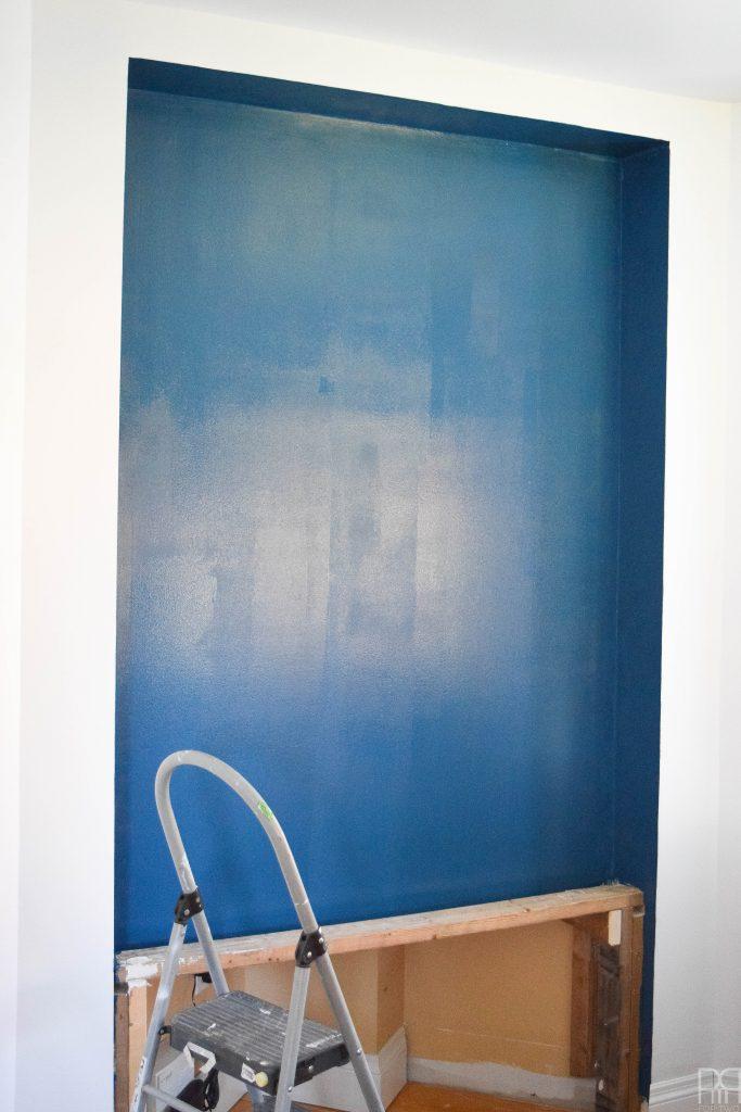one-room-challenge-week-2 blue paint