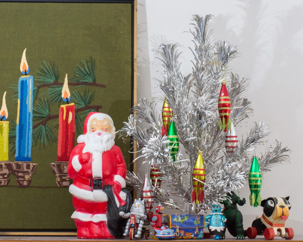 An MCM Christmas Tour with Collected Home santa with tree