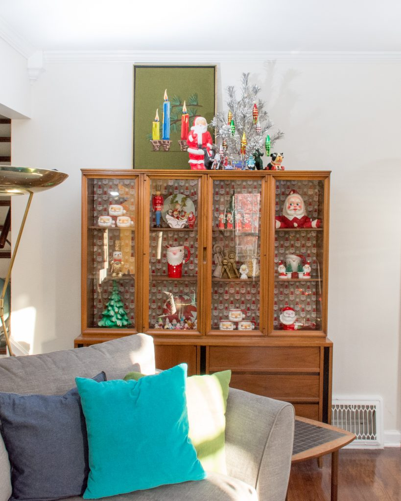 An MCM Christmas Tour with Collected Home hutch