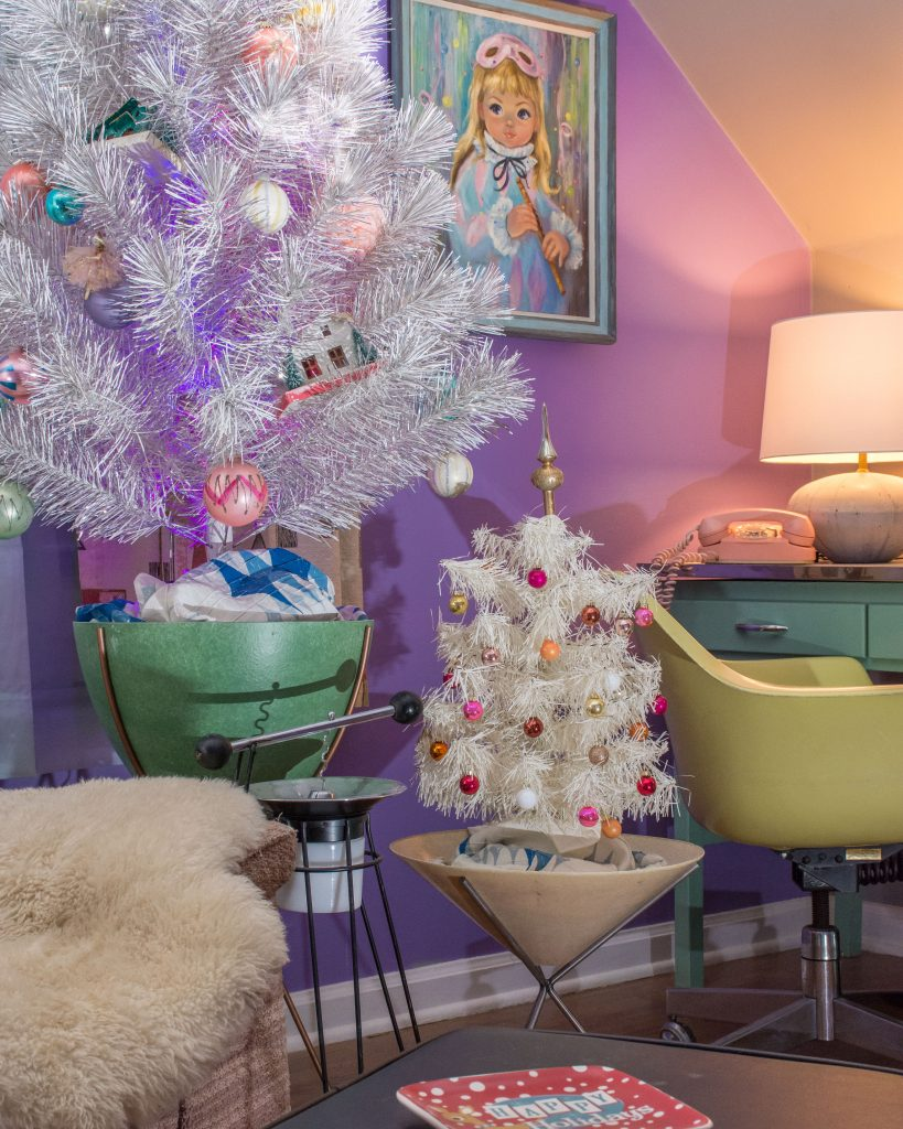 An MCM Christmas Tour with Collected Home tinsel tree