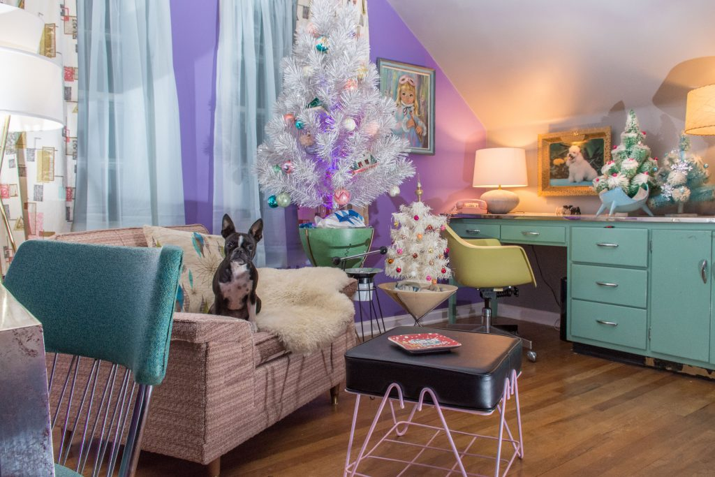 An MCM Christmas Tour with Collected Home aqua buffet