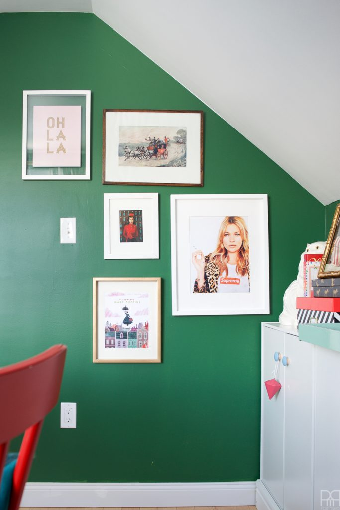 Home Office Reveal - The Green Grotto gallery wall