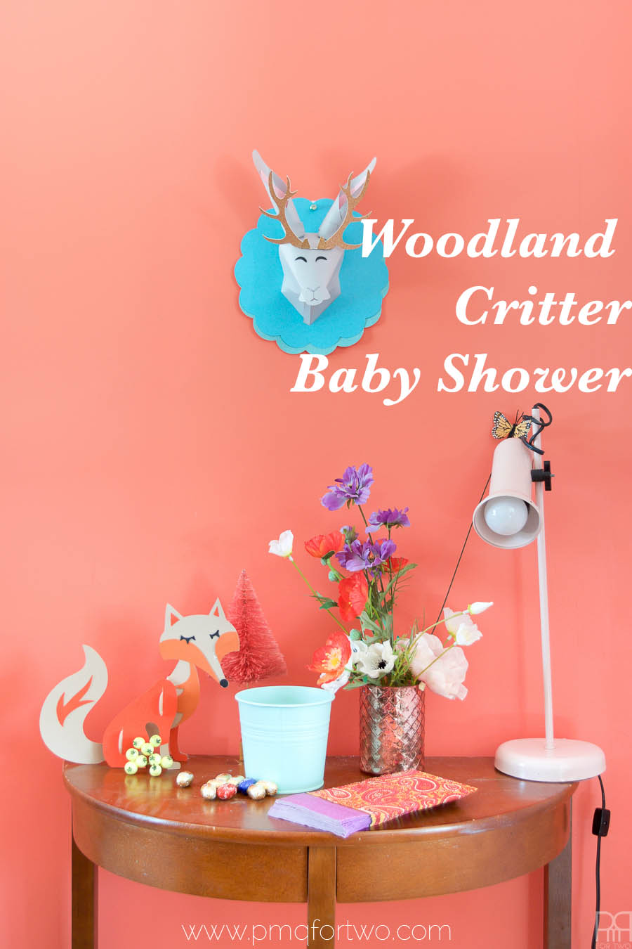 woodland critter baby shower pmq for two