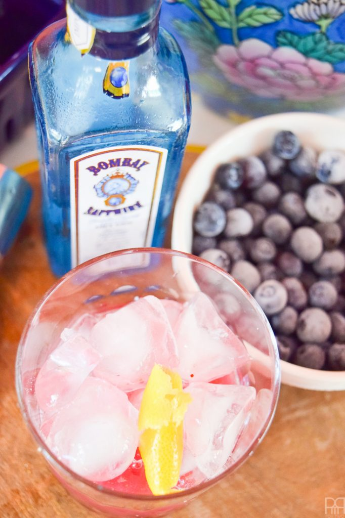 The Blueberry Gin Sour cocktail
