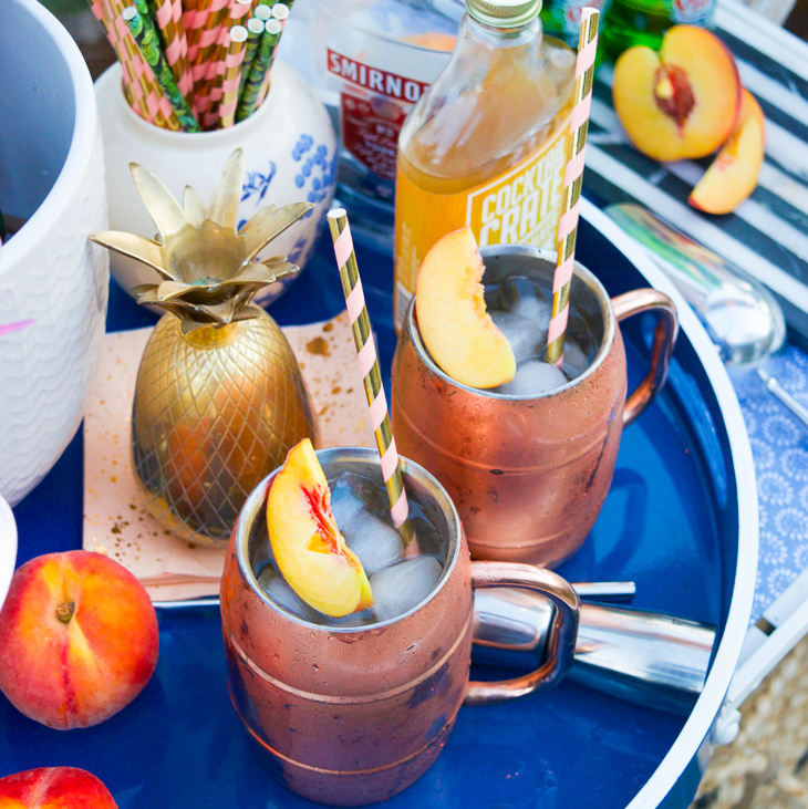 Peach & Honey Ginger Moscow Mule