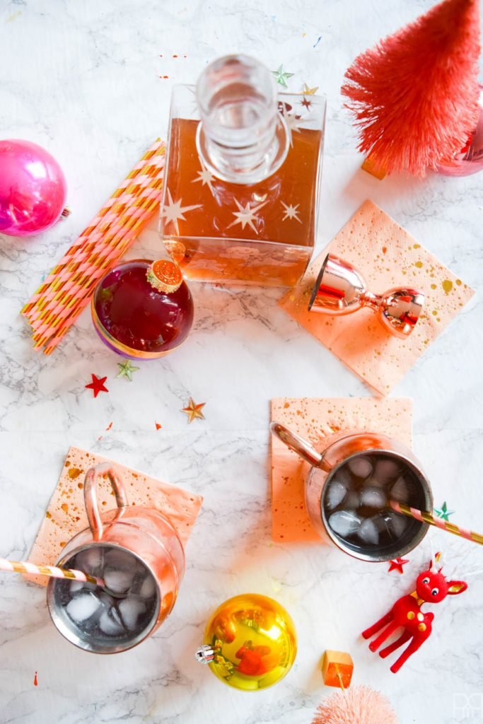 DIY Gingerbread Vodka Moscow Mule