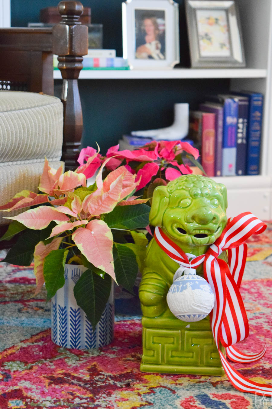 Come tour a Colourful & Eclectic Christmas Home Tour, full of rich patterns, styles and whimsical touches.