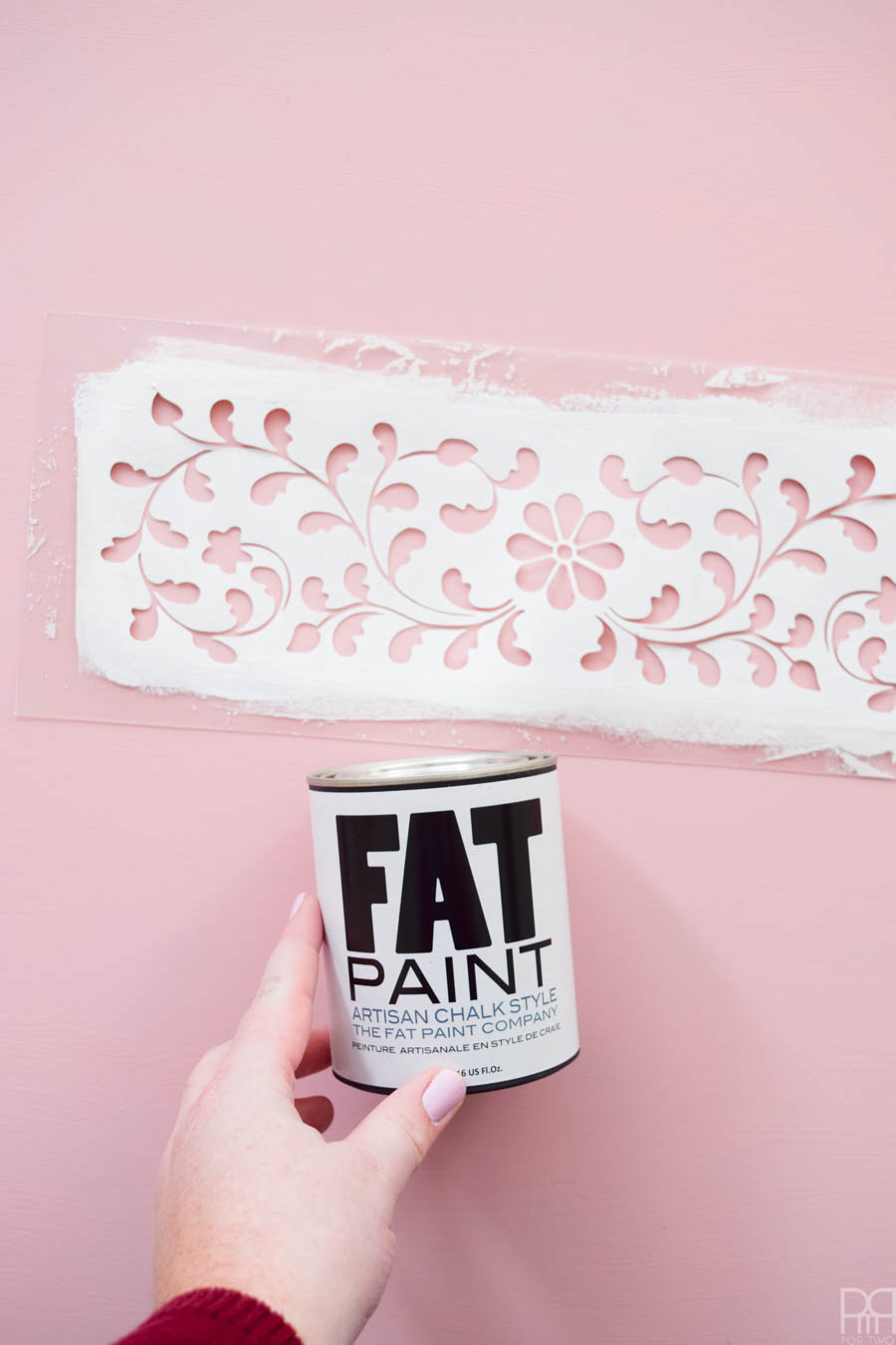Paint yourself a DIY Bone Inlay Coffee Table using the most luxurious chalk paint you can find. FAT Paint goes on smoothly and is a dream to stencil with. Come see how I got it all together!