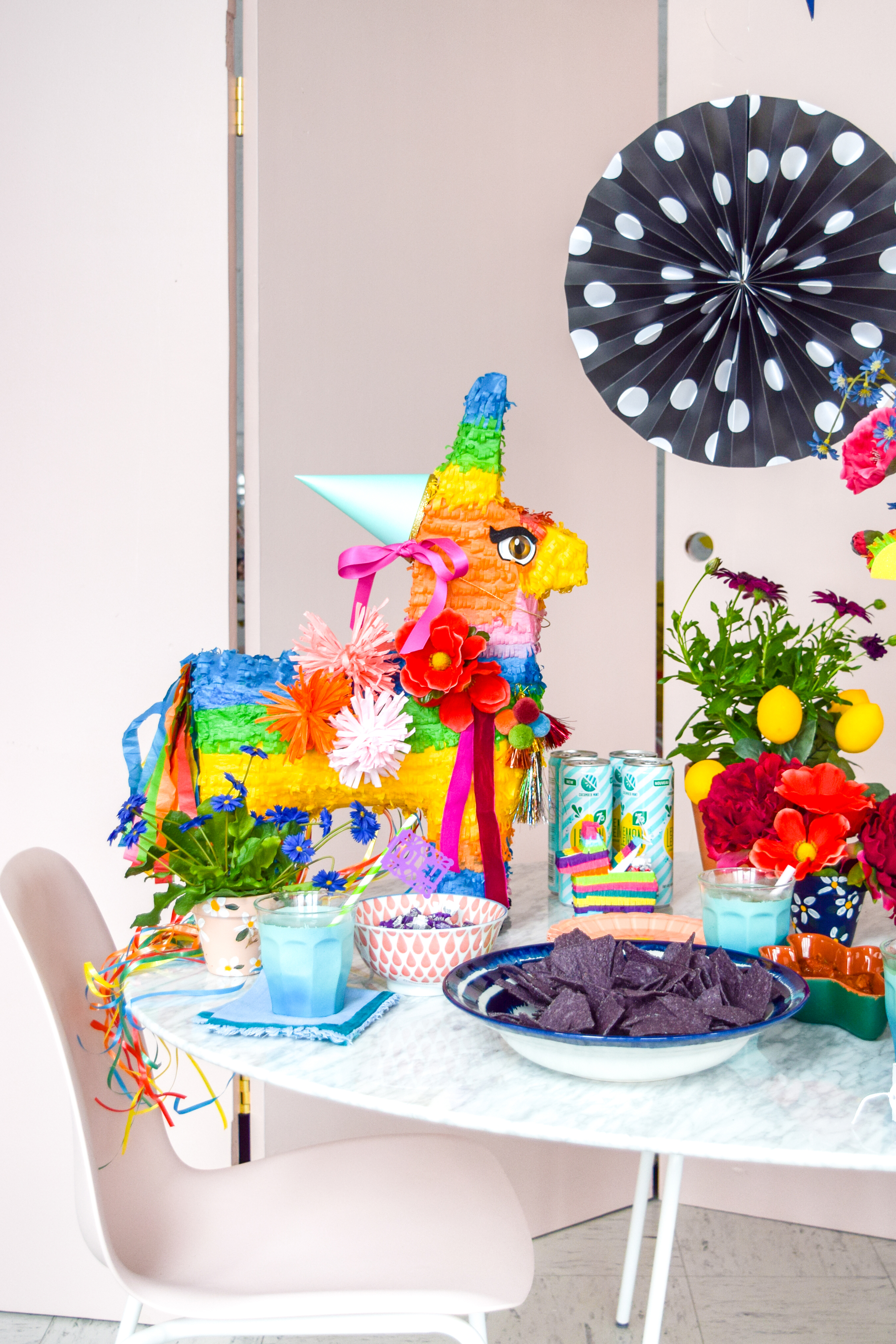 A Cinco de Mayo Party - from start to finish - to help you get the party started! Come see what I made and bought, for this colourful fiesta. Hint: lots of mini pinatas, colourful paper picado, and cocktails. Now, where's my margarita?