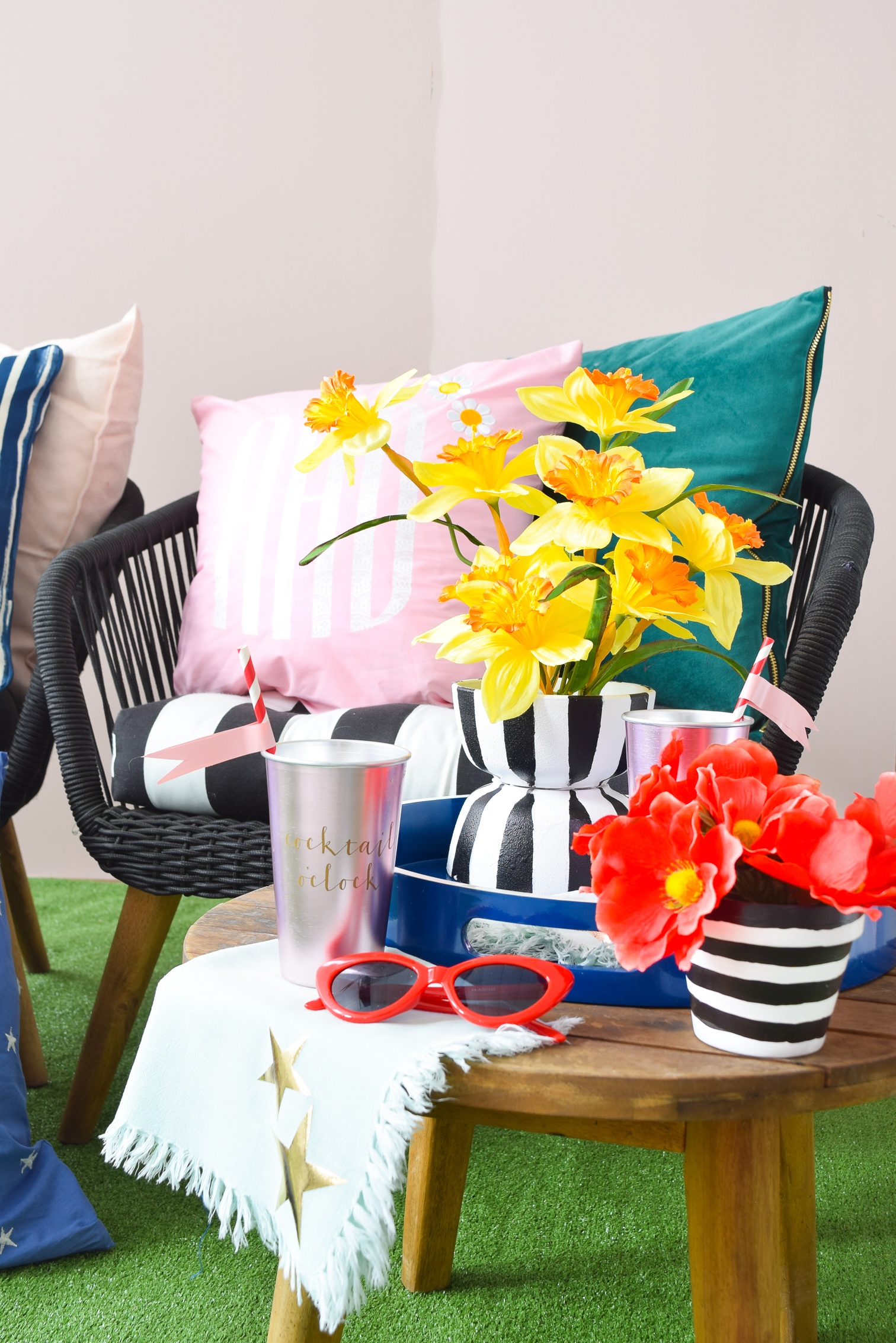 Patterned Iron on Monogram Pillows are where it is at this season. Get your hands on Cricut's new pattern samplers, and create some funky, retro cool pillows for your home now.