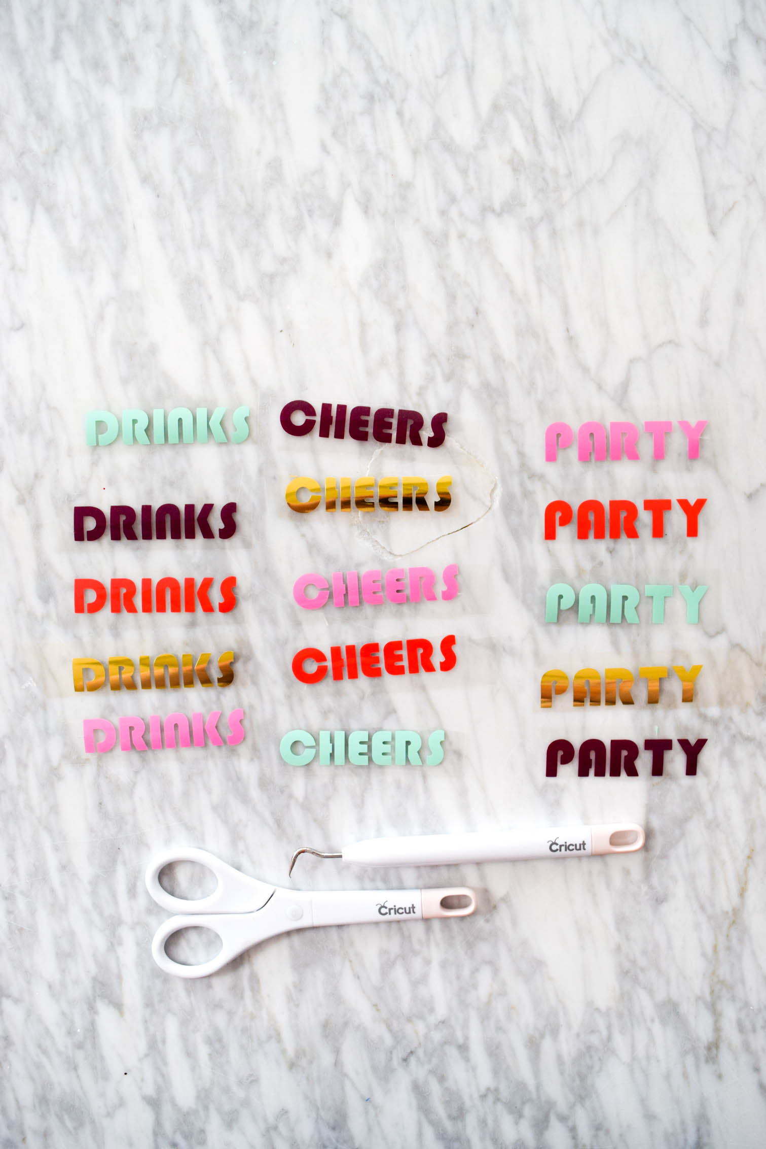 This is the summer project you've been waiting for: DIY Party Koozies. All you need is koozies + iron on vinyl + your Cricut. Get all the details and check out some more pretty pictures on the blog.