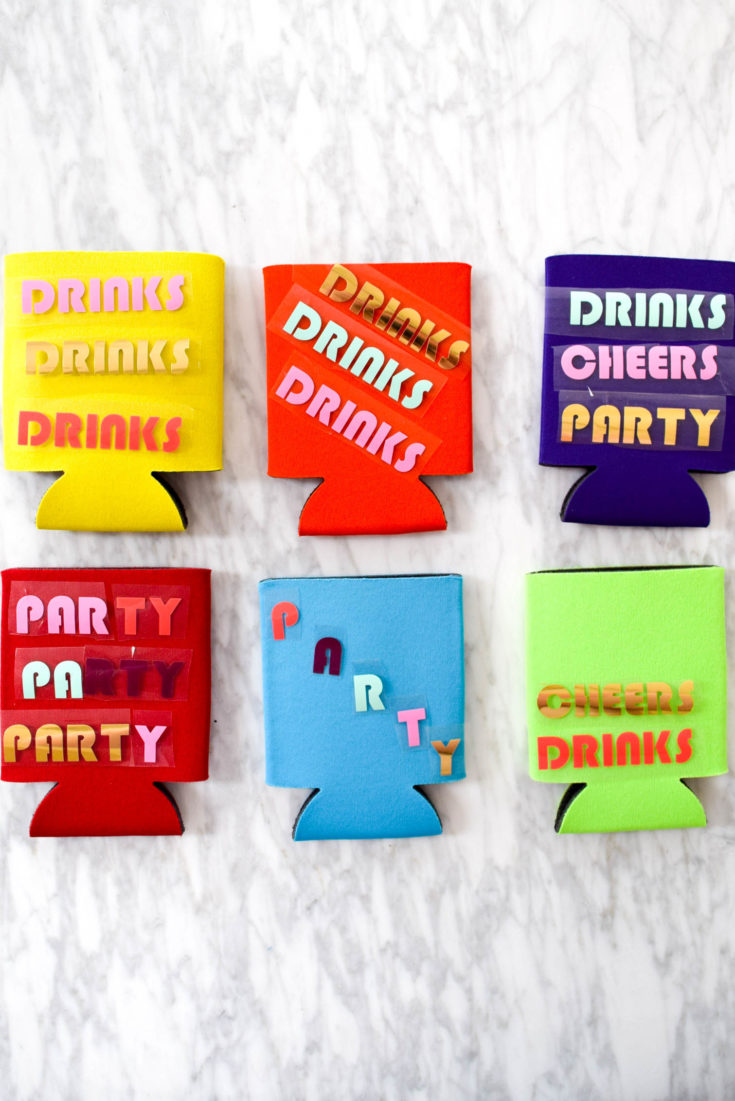 How To Make DIY Party Koozies