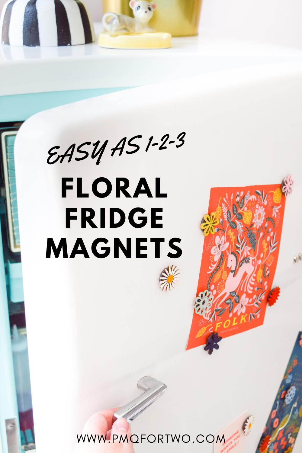 Easy DIY fridge magnets are all you need to bring some life to your fridge, and bring out the colours in your kitchen! Mix & match for perfect colours