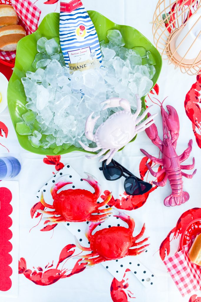 Colourful Pastel Seafood Tablescape