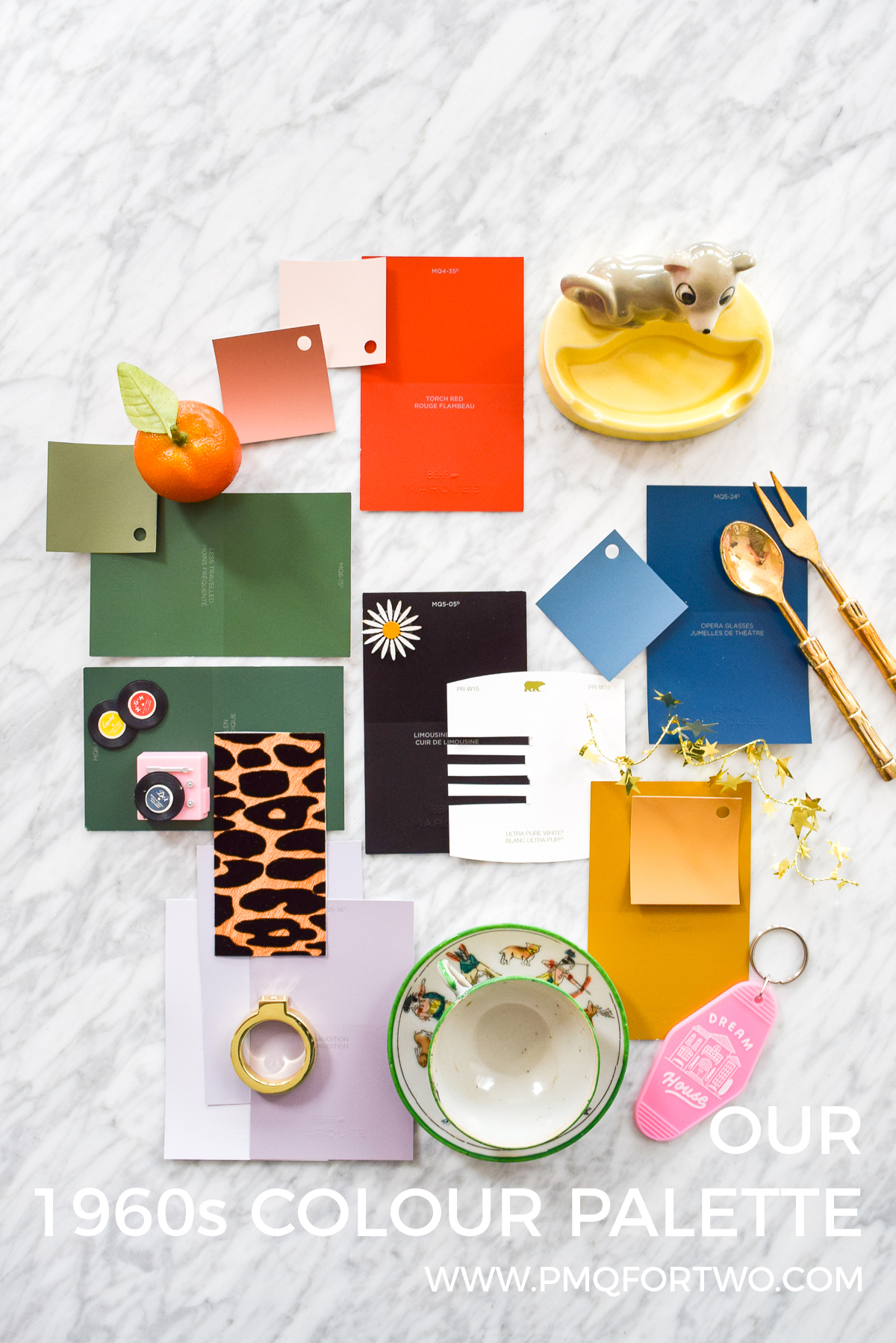 a flat lay colour palette