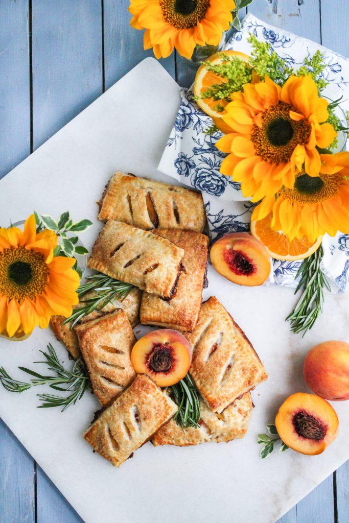 Rosemary Peach Harvest Pocket Pies