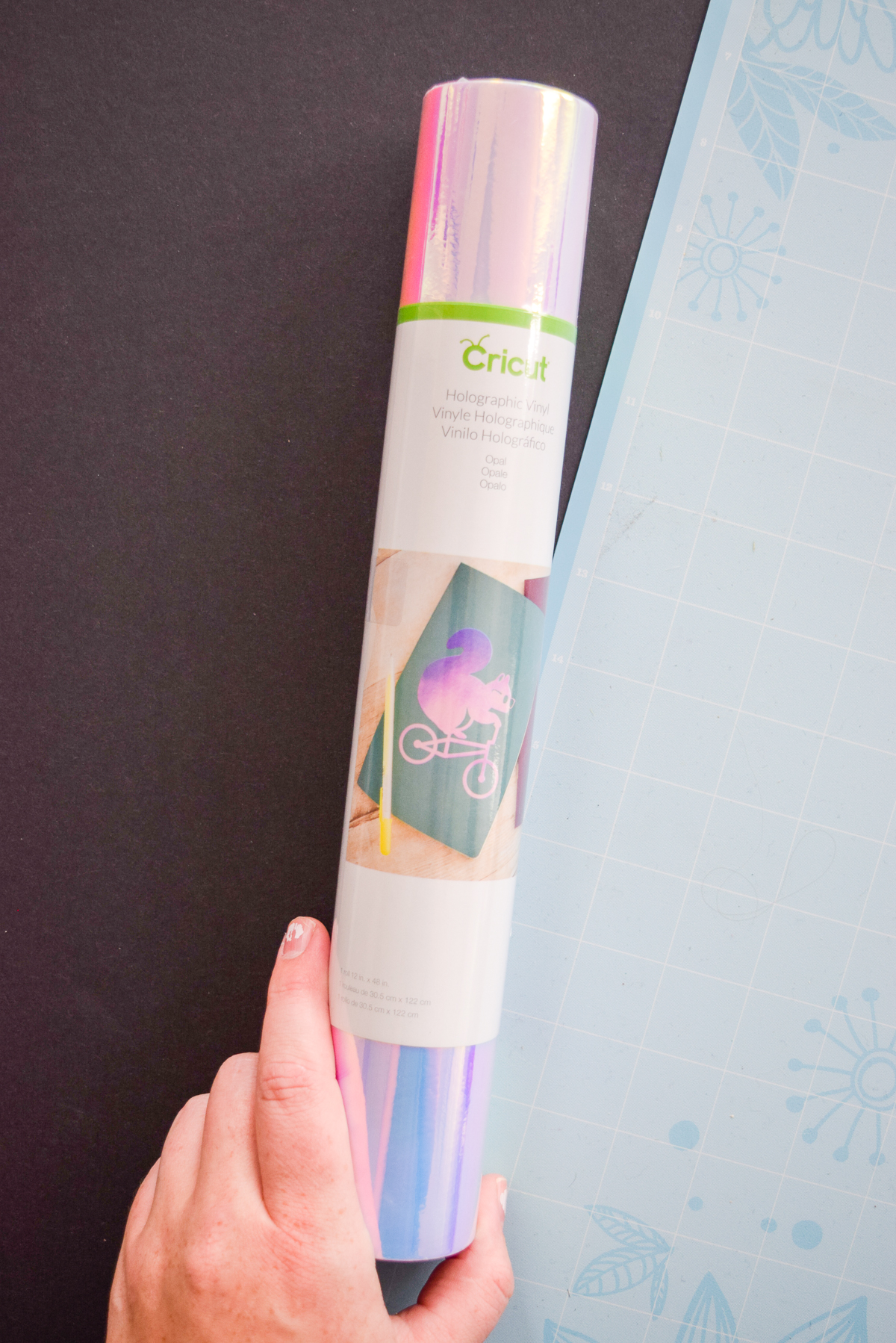 roll of Cricut holographic vinyl